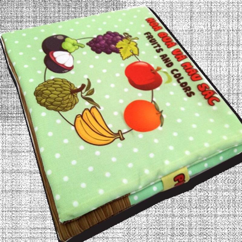 Mua Sách vải cho bé chơi mà học Pipo - Hoa quả và màu sắc