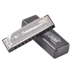 Swan 10 Holes 20 Scales Blues C Key Harmonica Silver Color Harmonica – intl