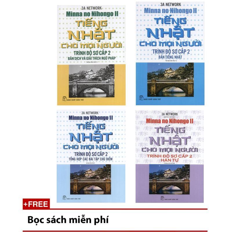 Mua Trọn bộ 4 cuốn Tiếng Nhật cho mọi người Mina no Nihongo - Sơ cấp tập 2 - Bản tiếng Nhật, Bản dịch và giải thích ngữ pháp, Hán tự, Tổng hợp các bài tập chủ điểm