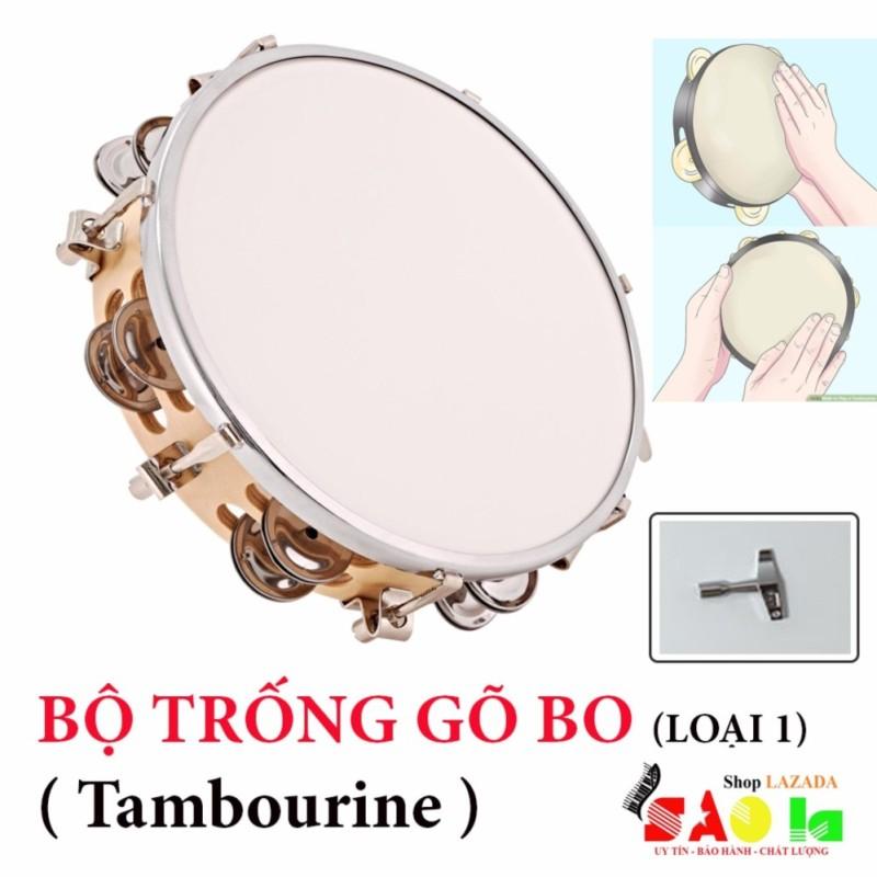 Trống Lắc Tay - Lục Lạc Gõ Bo Tambourine Cao Cấp L1
