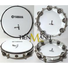 Trống lắc tay – Lục lạc gõ bo Tambourine Yamaha MT6-102A (Trắng – Trống chơi nhạc chế gõ po – Xipo)
