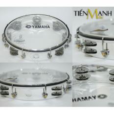 Trống lắc tay – Lục lạc gõ bo Tambourine Yamaha MT6-102T (Trong suốt – Trống chơi nhạc chế gõ po – Xipo)