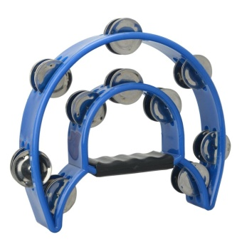 Two-ring Hand Tambourines Blue - intl