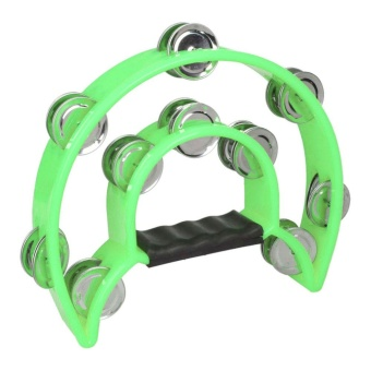 Two-ring Hand Tambourines Green - intl