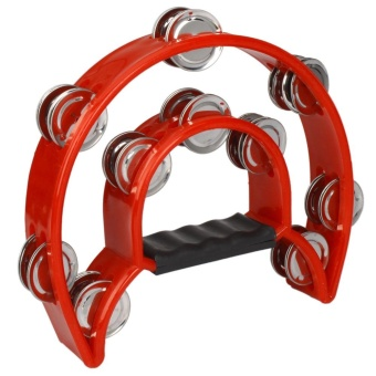 Two-ring Hand Tambourines Red - intl