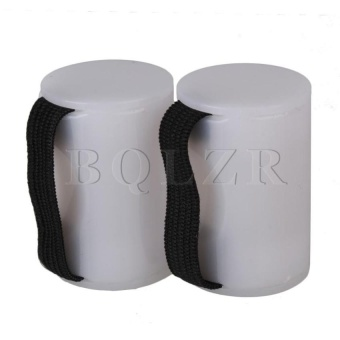 Ukulele Guitar Rhythm Sand Shaker Finger Ring Set Of 2 (White) - intl