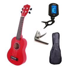 [ƯU ĐÃI LỚN] Đàn ukulele 21inch soprano full phụ kiện tuner ET-33, bao đàn, capo
