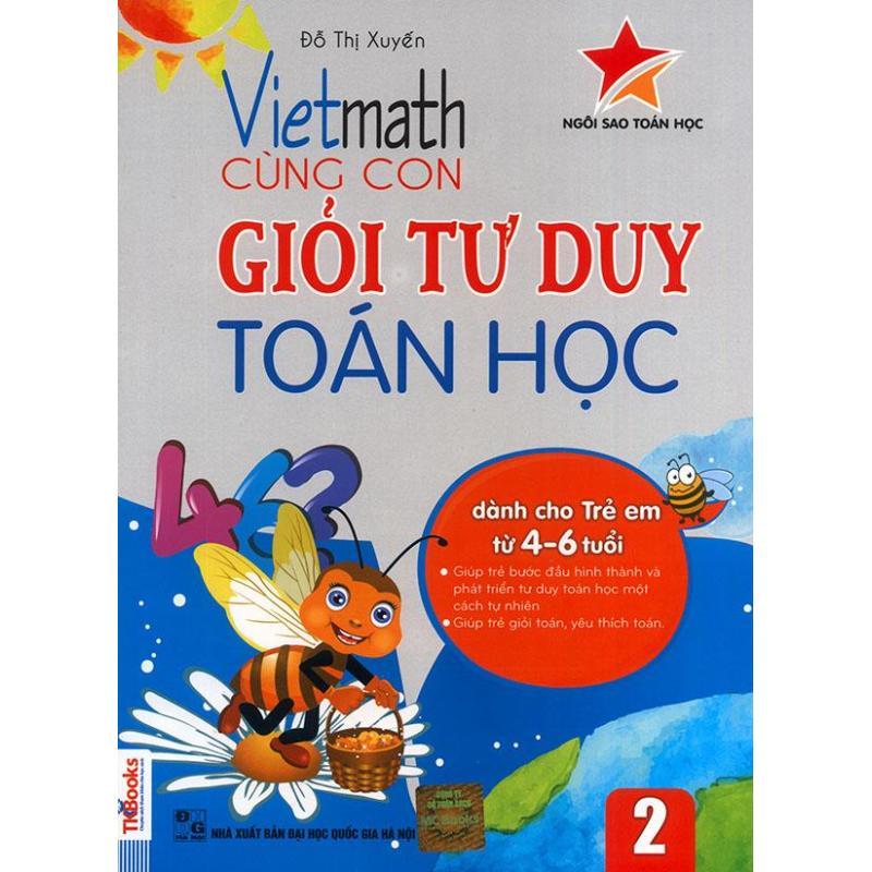 Mua Vietmath - Cùng con giỏi tư duy toán học 2 (dành cho trẻ em từ 4-6 tuổi)