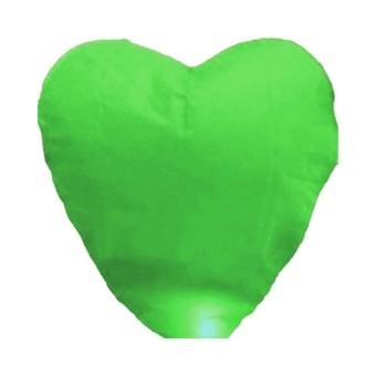 10pcs Heart Chinese Sky Lantern Wish Lantern Lamps Wedding Xmas Party Green - intl