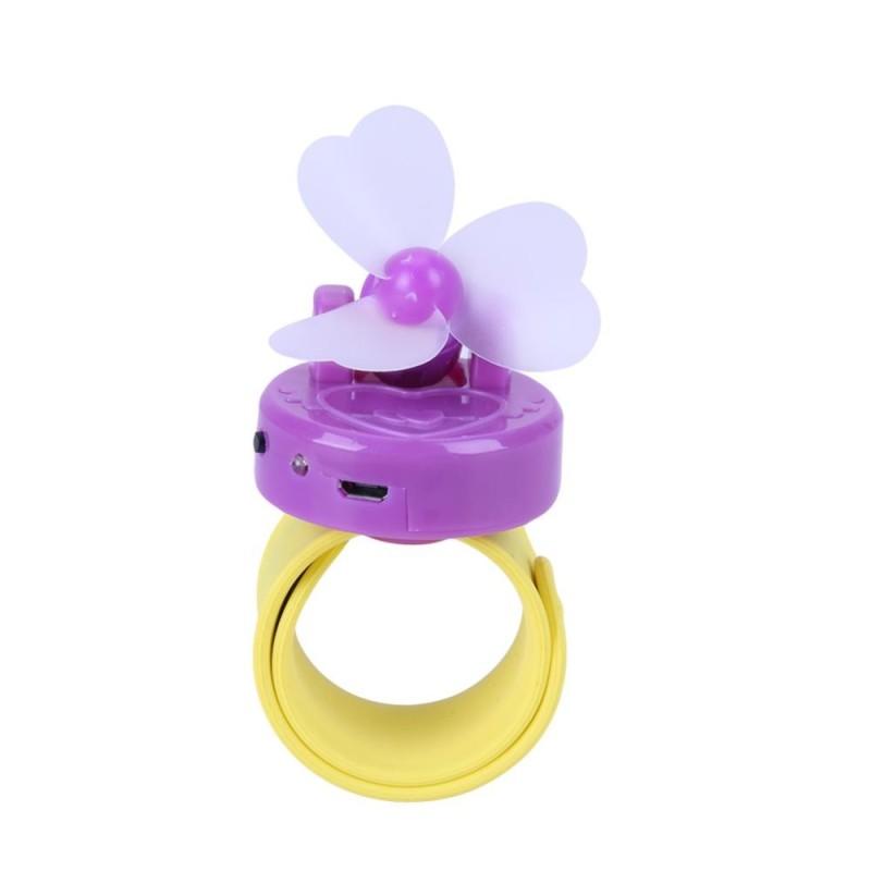 Bảng giá 1pc 360 5V Mini Portable USB Wrist Fan Cooler Lamp(Purple) - intl
