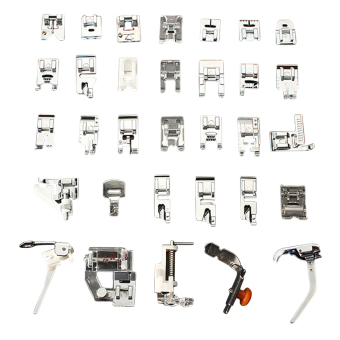 32 PCS Sewing Machine Foot (Silver)