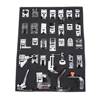 32pcs Domestic Sewing Machine Presser Feet (Silver) - intl