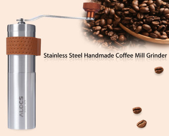 ALOCS Outdoor Travel Handmade Coffee Mill Grinder(Silver) - intl