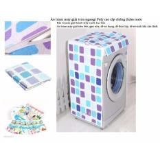 Báo Giá Áo trùm máy giặt cửa ngang màu ngẫu nhiên ( Vải poly xốp-mềm-nhẹ-chống thấm nước cực tốt)