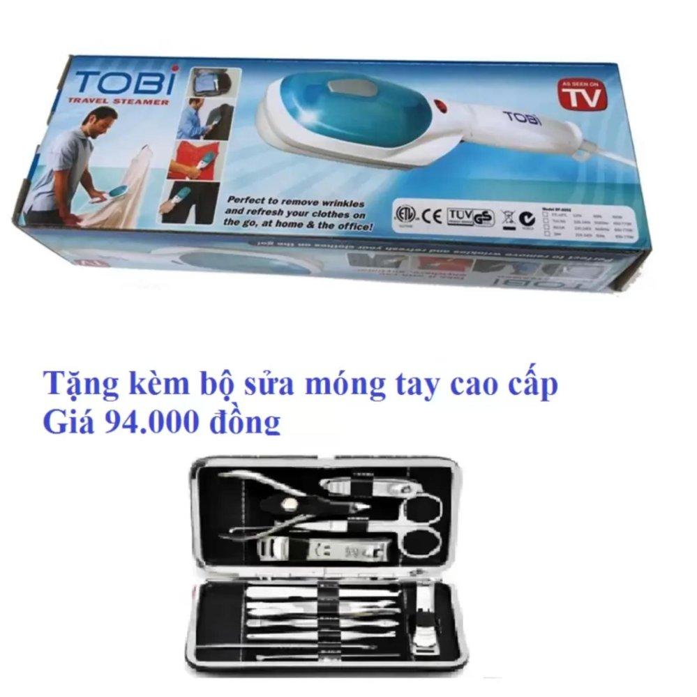 Bàn ủi hơi nước cầm tay tiện lợi cho gia đình Tobi -TV + Tặng kèmdụng cụ sửa móng tay