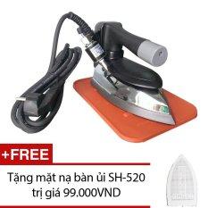 Bàn ủi hơi nước công nghiệp Korea Pengiun Pen 520 + Tặng mặt nạ bàn ủi SH-520