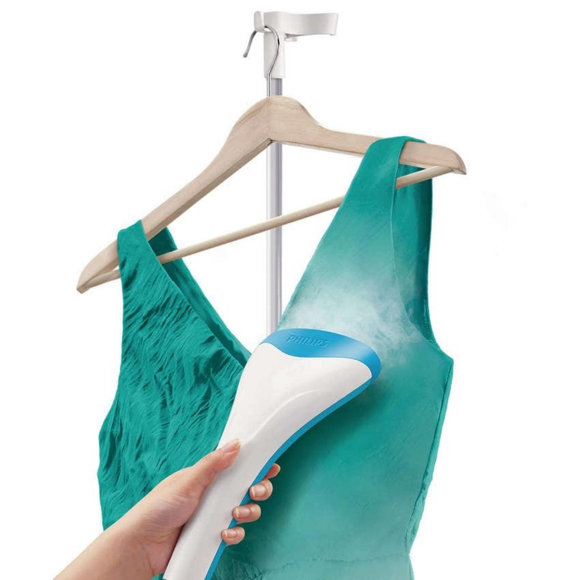 Bàn ủi hơi nước đứng Philips GC502 (Xanh) - Hàng nhập khẩu + Tặng xà phòng tẩy vết bẩn cổ áo