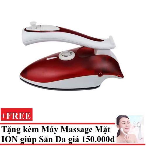 Bàn ủi Hơi Nước Mini Sokany lx-368 + tặng máy massage làm săn chắcda mặt bằng ION