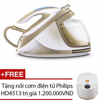 Bàn ủi hơi nước Philips GC9642 (Vàng) - Hãng Phân Phối Chính Thức + Tặng nồi cơm điện tử Philips HD4513