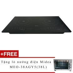 Bếp đôi điện từ Midea 2ST-3304 + Tặng lò nướng điện Midea MEO-38AGY5 (38L)
