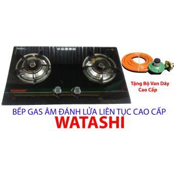 Bếp Gas ÂM Mặt Kính Cường Lực Cao Cấp WATASHI Tặng Bộ Van Dây