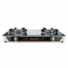 Bếp gas đôi kiếng cường lực cao cấp Hayasa HA-8010 – Hãng phân phối chính thức