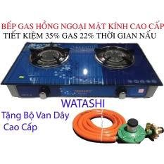 bep ga Hồng Ngoại Cao Cấp Tiêt Kiệm Gas 35% WATASHI 469 Tặng Bộ Van Dây