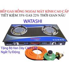 Bếp gas hồng ngoại Cao Cấp Bếp gas WATASHI Tiêt Kiệm Gas 35% 0466 Tặng Bộ Van Dây kèm cổ dê