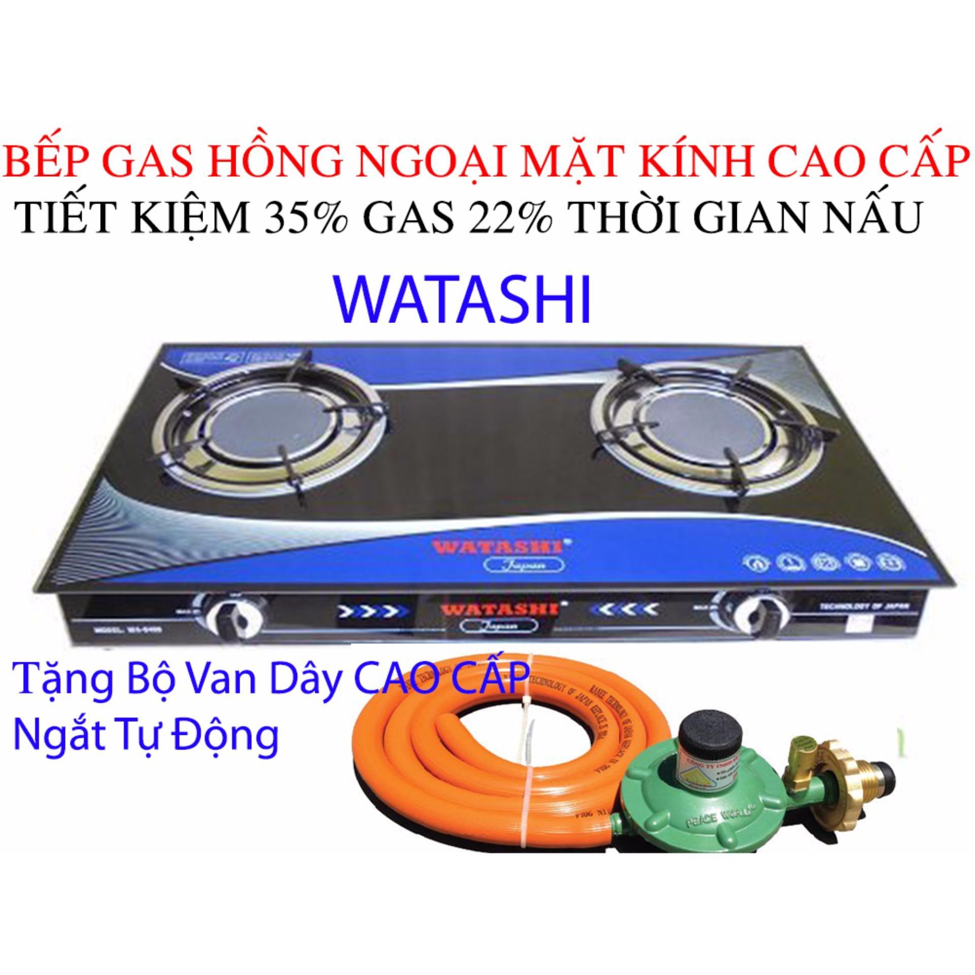 Nơi Bán bep ga hồng ngoại Cao Cấp Bếp gas WATASHI Tiêt Kiệm Gas 35% 0466 Tặng Bộ Van Dây