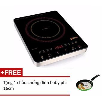 Bếp hồng ngoại ceramicGoldsun ECC-GHY116 + Tặng 1 chảo chống dính baby phi 16cm