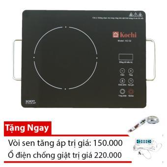 Bếp hồng ngoại đơn KOCHI model KC 02 (Đen) Tặng kèm 1 ổ điện chống giật 220.000 + 1 vòi sen tăng áp 150.000