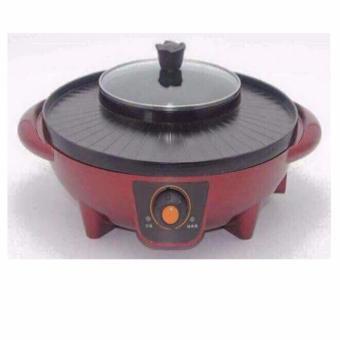 Bếp lẩu kết hợp Nướng điện đa năng 2 trong 1 + vi in hình tiền