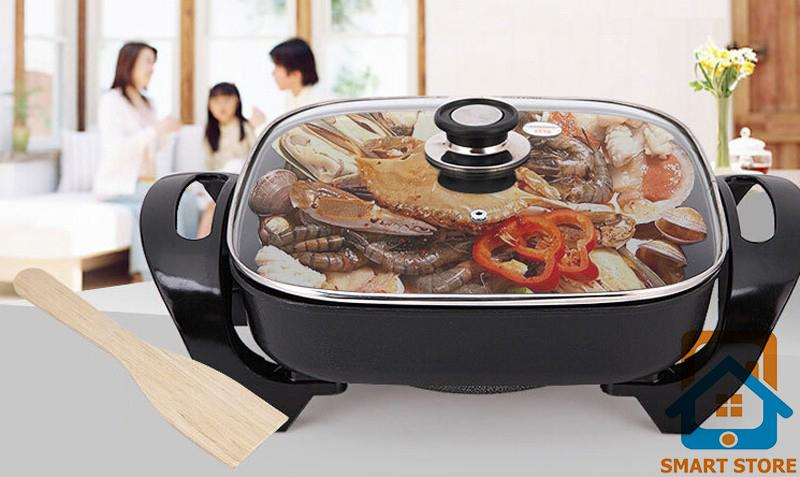 Bếp nướng chảo nướng kiêm nồi lẩu cao cấp HappyCall khuyến mại giảm giá (hình vuông)