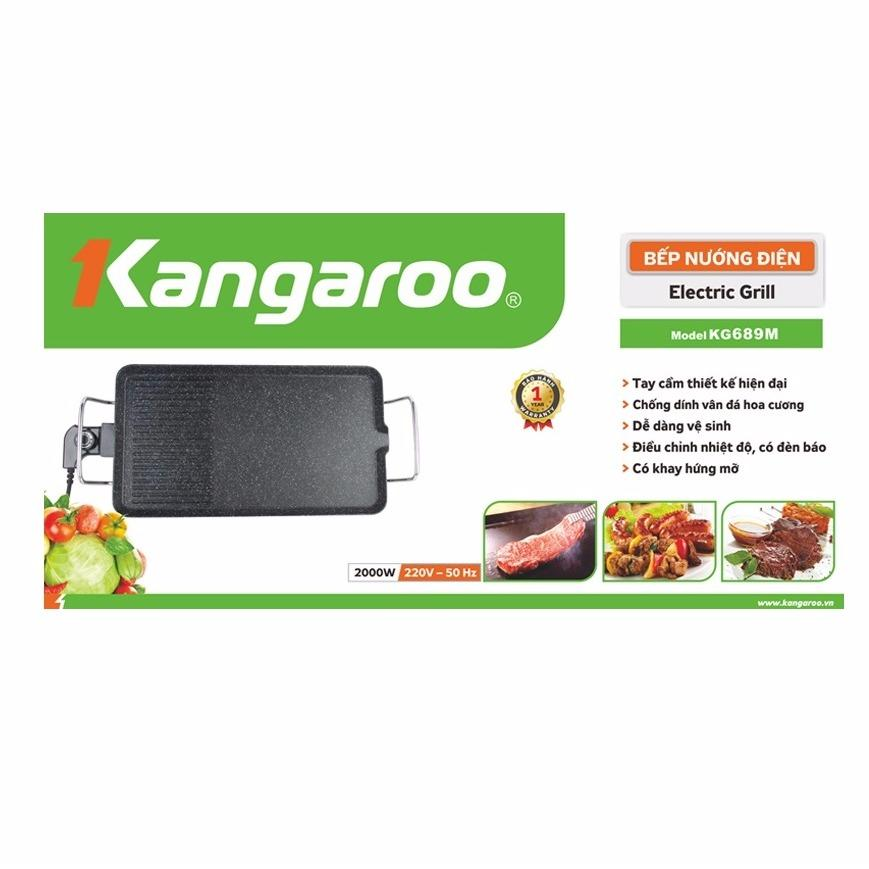 Bếp nướng điện vân đá Kangaroo KG689M – 2000W