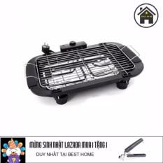 Bếp nướng không khói Electric barbecue grill 2000W tặng kèm dụng cụ gắp nóng