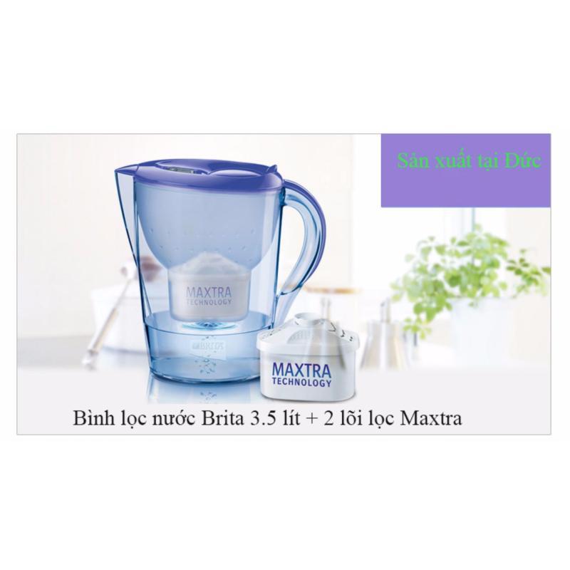 Bình lọc nước Brita Marella water filter 3.5 lít và 2 lõi lọc nước Maxtra- Hàng nhập khẩu