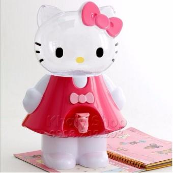 Bình lọc nước , rót nước , Hello Kittymặc đầm 2500ml (2.5 Lít) màu hồng đậm ,kiểu dáng đáng yêu dành cho các bé gái ,bạn gái , học sinh và trang trí phòng (15x 16x 37) - BLNKT2.5L