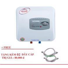 Bình nước nóng chống giật Rossi R15Ti Trắng – Tặng 02 dây cấp inox lắp bình