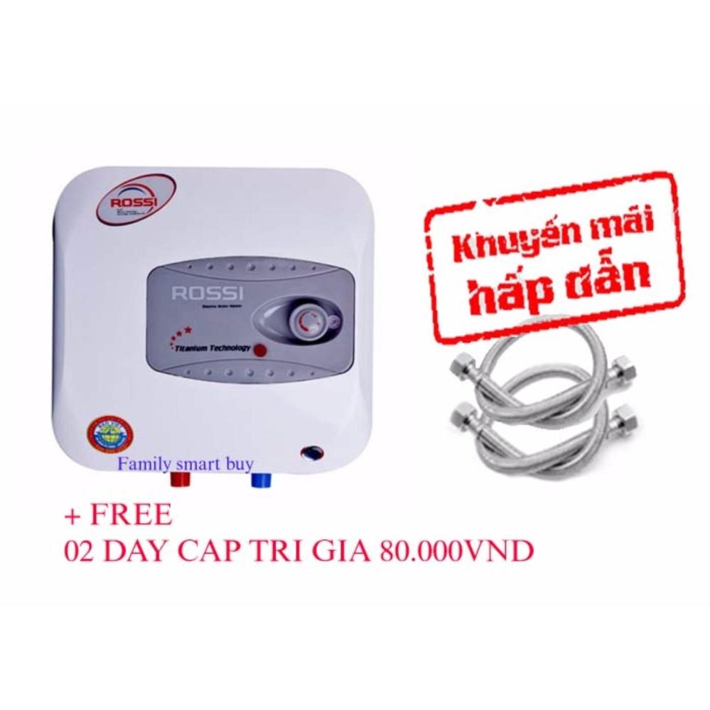 Máy nước nóng gián tiếp ROSSI R15Ti + Free 02 dây cấp lắp bình