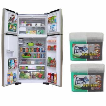 Bộ 2 hộp Gel than hoạt tính khử mùi diệt khuẩn tủ lạnh Hàn Quốc300Gr