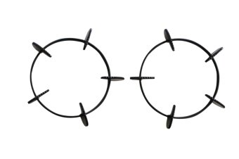 Bộ 2 kiềng cọng tròn bếp gas dương đa năng KCBG-2015CITYg