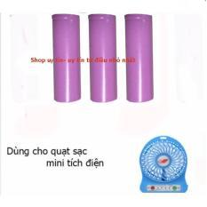 Bộ 3 Viên pin sạc 800mh dùng cho quạt sạc mini