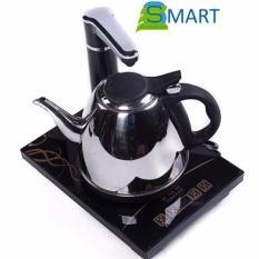 Bộ Khay trà điện siêu tốc đơn + Ấm trà điện siêu tốc đơn SIMI 1ATD (Bạc)
