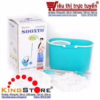 Bộ lau nhà 360 độ, 2 bông lau Sooxto tiện dụng cho gia đình
