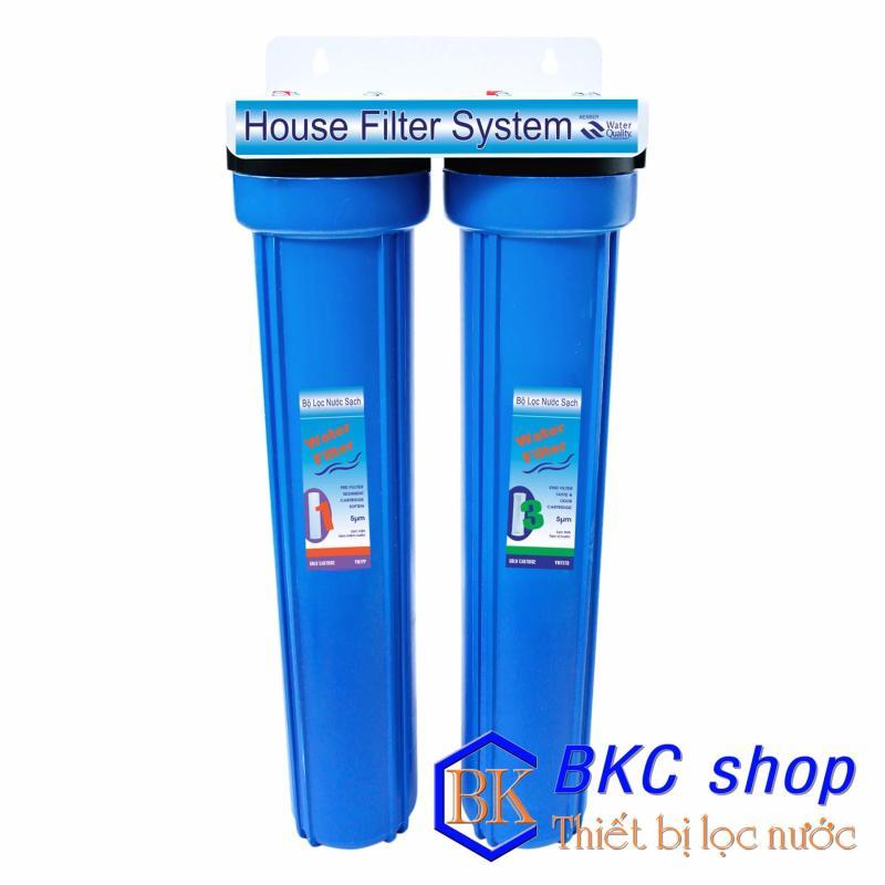 Bộ lọc nước sinh hoạt 2 cấp lọc 20 inch (PP+CTO) xanh