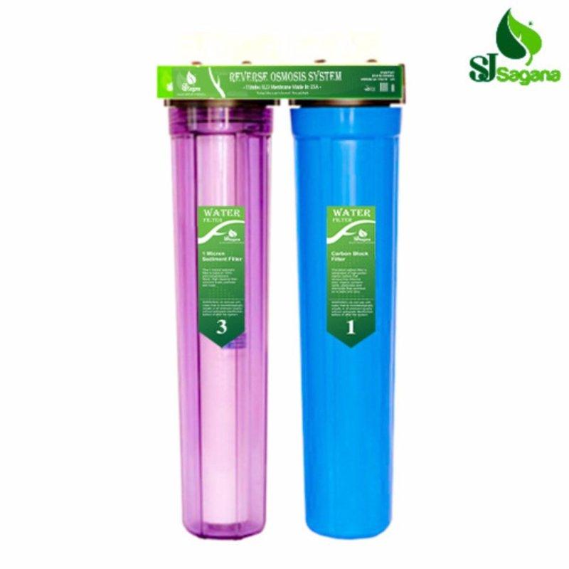 Bộ lọc nước sinh hoạt 2 cấp SJsagana ly 20'' (Xanh dương)