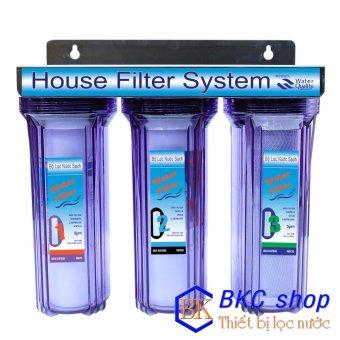 Bộ lọc nước sinh hoạt 3 cấp lọc 10 inch (xanh trong)