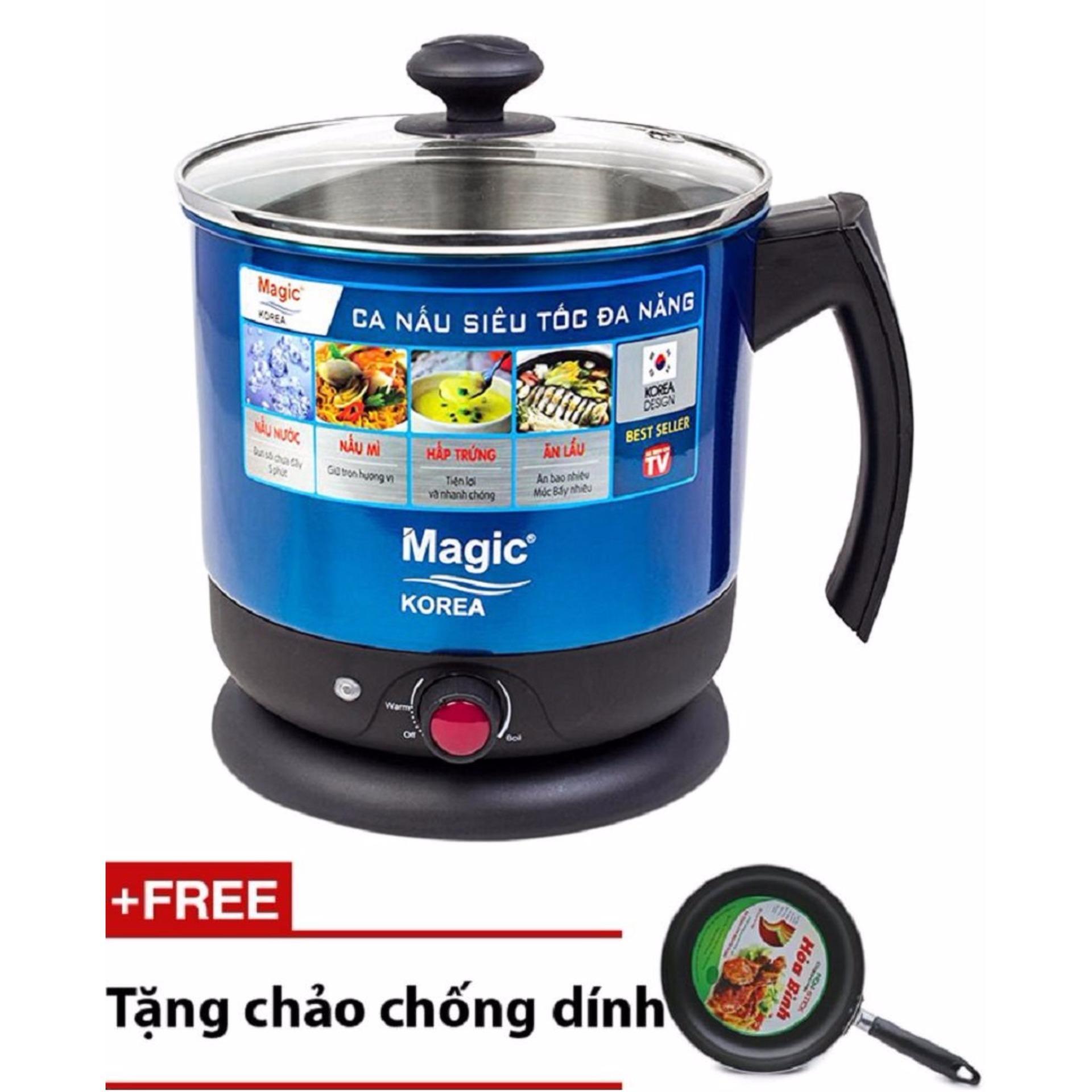 Vì sao mua Ca nấu lẩu siêu tốc đa năng Magic A-07 + Tặng Chảo Chống Dính Cao Cấp