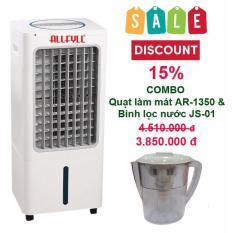 Combo máy làm mát Allfyll Thái Lan AR-1350 + bình lọc nước mini JS-01