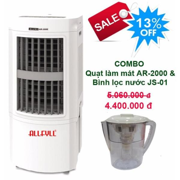 Bảng giá Combo air cooler Allfyll Thailand AR-2000 + Mini pitcher filter JS-01